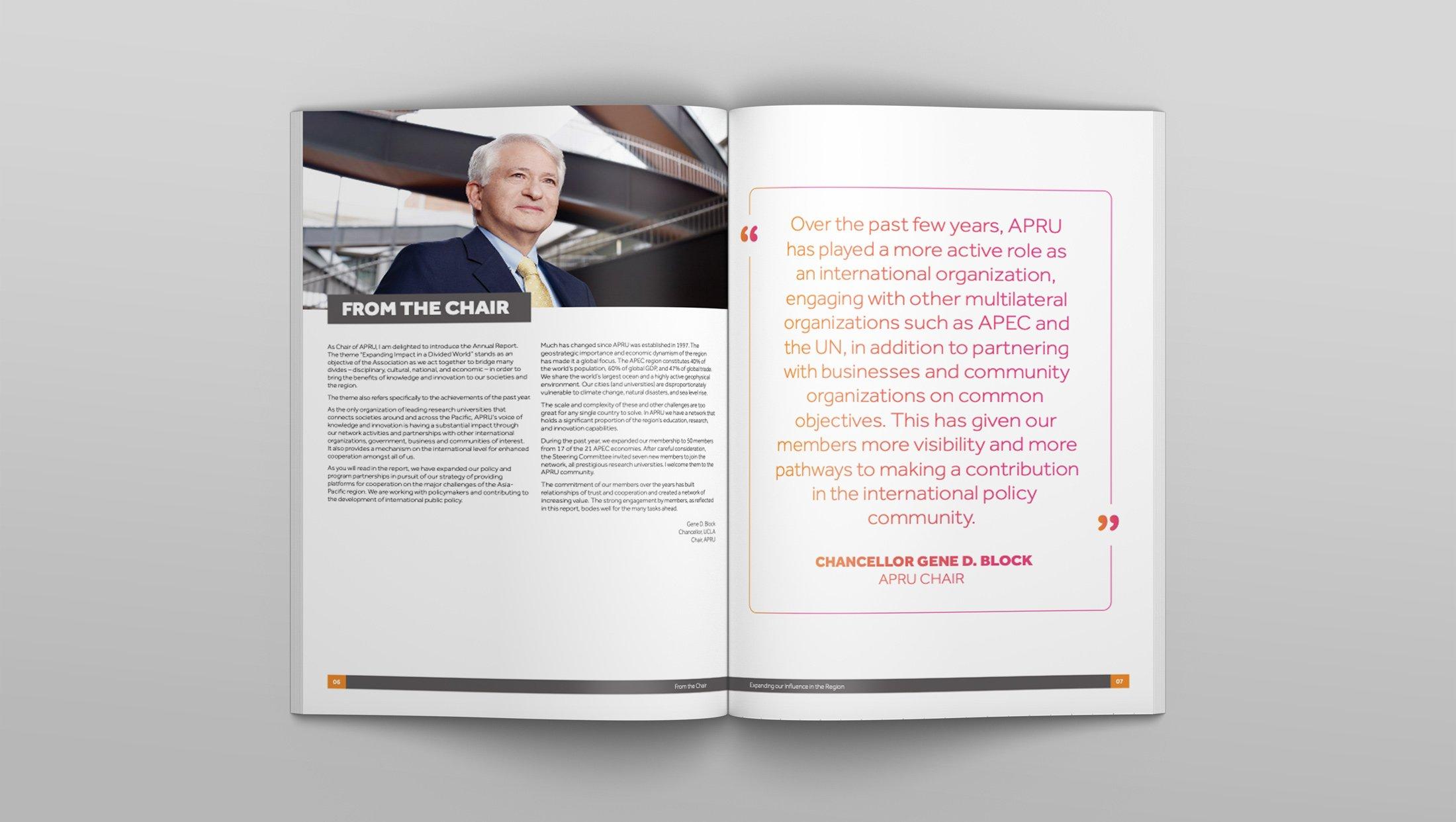 APRU Annual report Design Spread