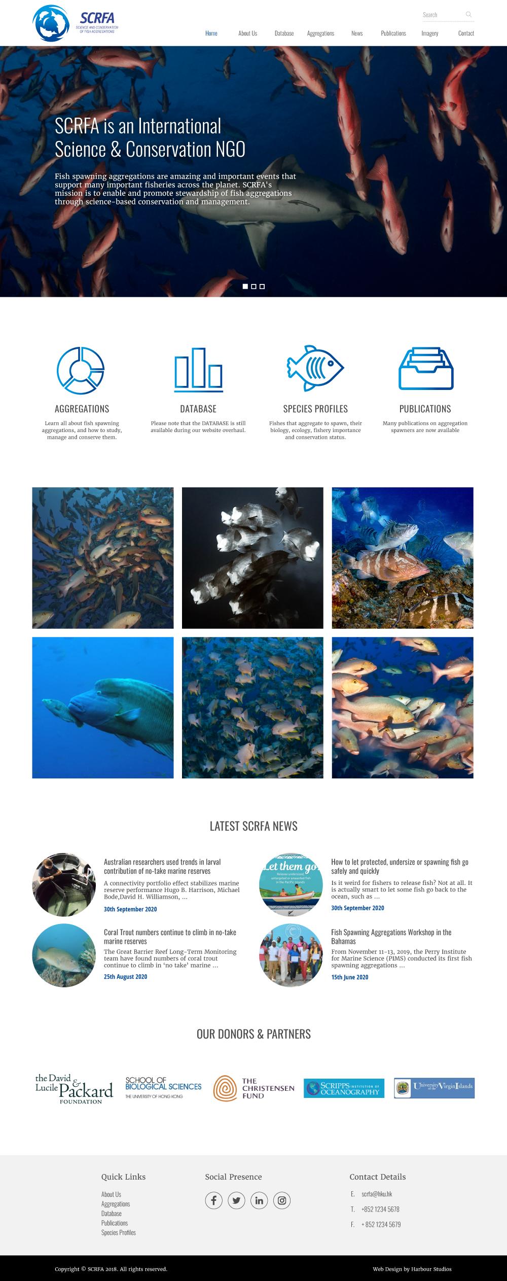 SCRFA website design