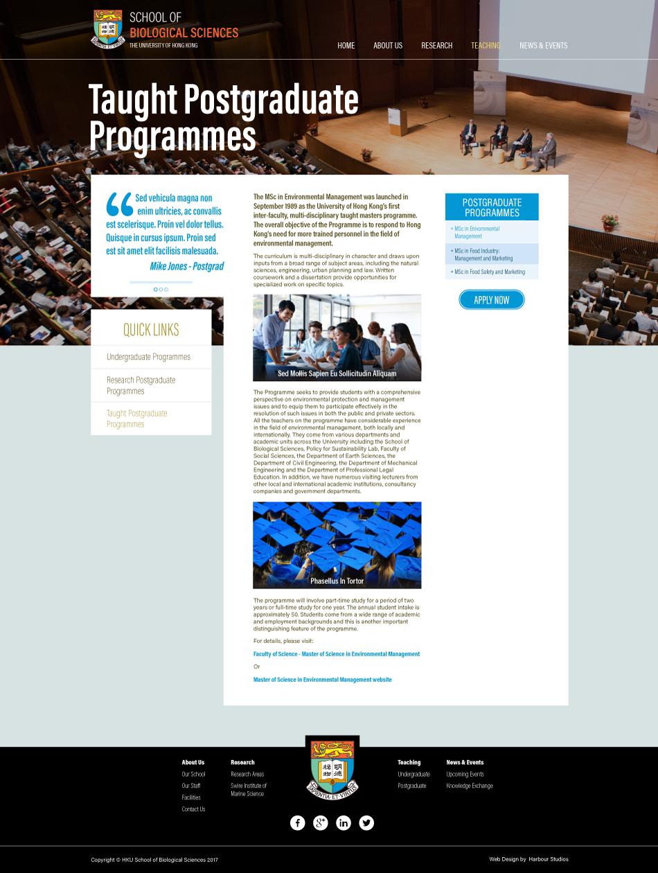HKU SBS - Website Design