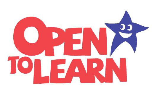 Open to Learn logo design